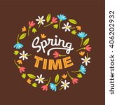 spring time. vector design...   Shutterstock .eps vector #406202932
