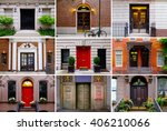 photo collage of colorful front ... | Shutterstock . vector #406210066