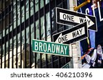 broadway street sign in