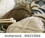 hand knitted goods | Shutterstock . vector #406213066