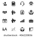business icons set and symbols...   Shutterstock .eps vector #406220836