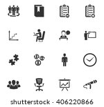 business icons set and symbols...   Shutterstock .eps vector #406220866