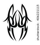 tribal tattoo art | Shutterstock .eps vector #406221115