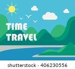 landscape illustration. modern... | Shutterstock .eps vector #406230556