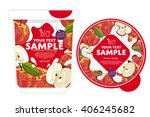 apple yogurt package design... | Shutterstock .eps vector #406245682