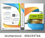 flyers annual report brochure... | Shutterstock .eps vector #406254766