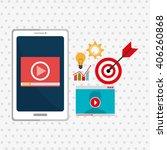 digital marketing design  | Shutterstock .eps vector #406260868
