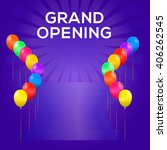 grand opening banner. colored... | Shutterstock .eps vector #406262545