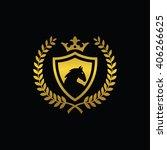 Stock vector vintage royal horse emblem 406266625