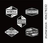 motorcycle label | Shutterstock .eps vector #406278232