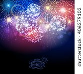 vector holiday fireworks | Shutterstock .eps vector #406279102