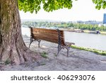 benches overlooking the city ... | Shutterstock . vector #406293076