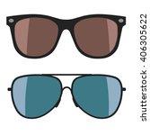 sunglasses on white background. ... | Shutterstock .eps vector #406305622