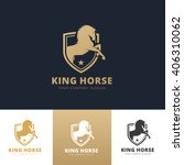 king horse logo.horse logo... | Shutterstock .eps vector #406310062