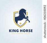 Stock vector king horse logo template 406310092