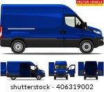 delivery van. doors can be...   Shutterstock .eps vector #406319002