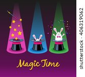 magic time. three vector icons... | Shutterstock .eps vector #406319062