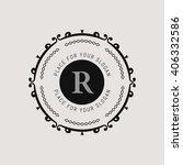 monogram  line emblem. elegant ... | Shutterstock .eps vector #406332586