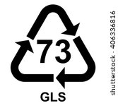 glass recycling symbol 73 gls ... | Shutterstock .eps vector #406336816