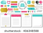 sticker  icons  signs for... | Shutterstock .eps vector #406348588