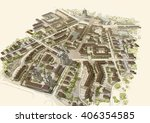 city top view sepia colors   Shutterstock . vector #406354585