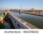 Small photo of famous canal crossing minden germany