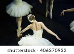 Small photo of Odette flys in the performance of Swan Lake of Pyotr Tchaikovsky and Petipa