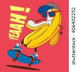 skate and cartoon skater ... | Shutterstock .eps vector #406402252
