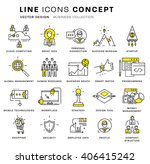 thin line icons set. business... | Shutterstock .eps vector #406415242