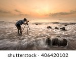 photographers are shooting sea | Shutterstock . vector #406420102