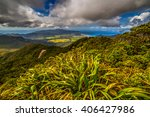 Small photo of Island overlook from Mt Hobson, Great Barrier Island, New Zealand