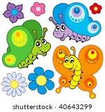 cartoon butterflies collection  ... | Shutterstock .eps vector #40643299