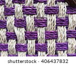colorful woven mat texture made ... | Shutterstock . vector #406437832