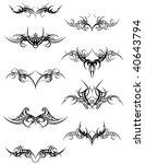 tribal art swirls | Shutterstock .eps vector #40643794