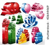 set of holiday and christmas... | Shutterstock . vector #40644469