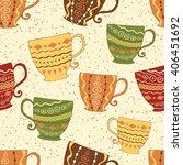 hand drawn seamless pattern... | Shutterstock .eps vector #406451692