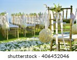 wedding set up | Shutterstock . vector #406452046