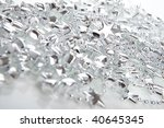 silver christmas decoration... | Shutterstock . vector #40645345