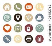 web icons.vector illustration. | Shutterstock .eps vector #406453762