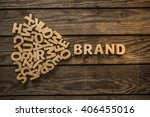 make your own brand. the word ... | Shutterstock . vector #406455016