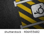 smooth asphalt road with... | Shutterstock . vector #406455682