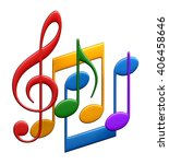 3d rendering of abstract music... | Shutterstock . vector #406458646
