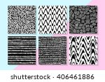vector seamless patterns set .... | Shutterstock .eps vector #406461886