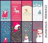 cartoon christmas cards | Shutterstock .eps vector #40646413