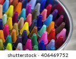 Colorful Pastel Crayons  Closeup