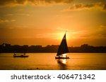 cairo   sunset over nile  | Shutterstock . vector #406471342