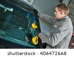 automobile windshield or... | Shutterstock . vector #406472668