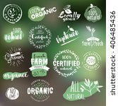 hand drawn badges and elements... | Shutterstock .eps vector #406485436