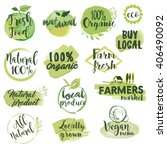 hand drawn watercolor stickers... | Shutterstock .eps vector #406490092