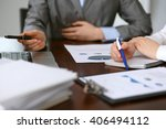 close up  of unknown  business... | Shutterstock . vector #406494112